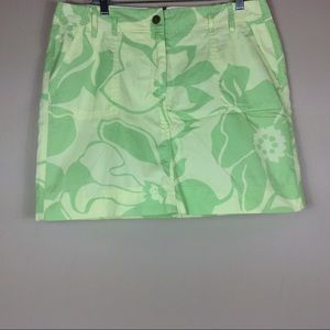 Lands End Skort Yellow And Green Size 14P